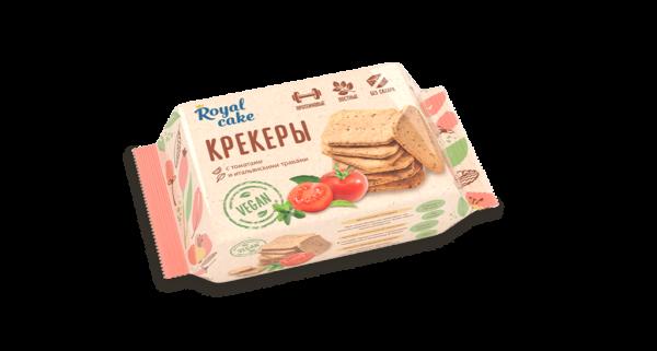 Крекер с высоким содержанием протеина «Protein Rex» «с томатами и итальянскими травами» (VEGAN). Протеиновый крекер, снеки.