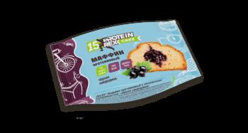 Маффин протеиновый «ProteinRex» (15% протеина) «Чёрная смородина» (без глютена)