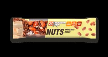 Батончик ореховый протеиновый «ProteinRex» (20% протеина) «Миндаль-пекан» (без глютена)